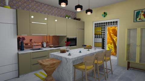 Modern Playful Kitchen - Kitchen - by kyrabaldwin