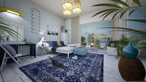 Nautical bedroom - Bedroom - by Smiljka Kostic