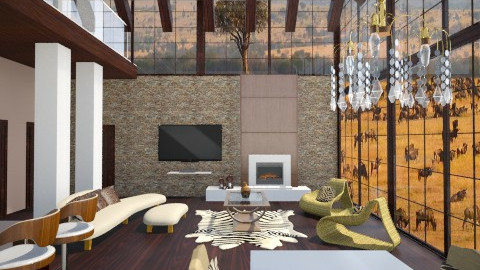 Safari Home - Global - Dining room - by Milagros Rossi Martino