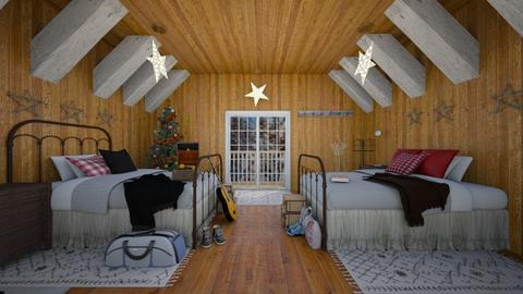 cabin christmas - Bedroom - by blackdaisies