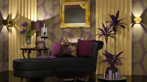 Purple - Rustic - Living room - by ZsuzsannaCs