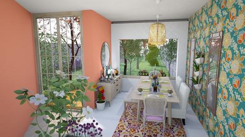 KASHMIR - Dining room - by Isabella Enriquez Rayranht