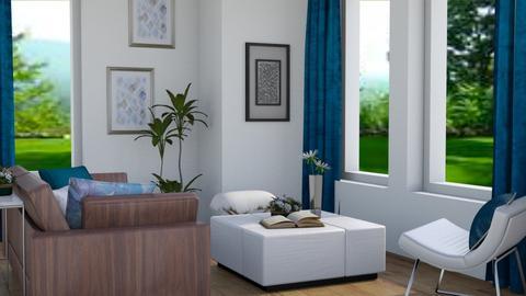 Blue Pop - Modern - Living room - by stephendesign