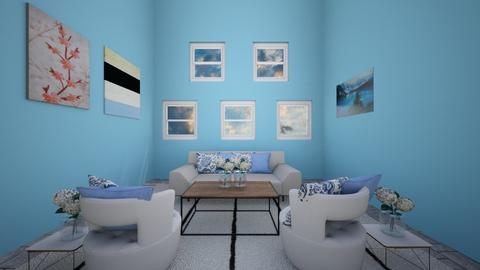 Blue - Living room - by Crazy cat girl 10