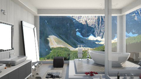mountain bathroom - Bathroom - by mayssa ltf