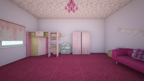 PINK   - Kids room - by Afreen Badal