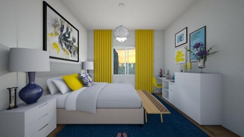 decor yellow  - Bedroom - by Tainaraa