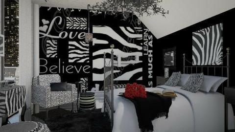 In a Zebra Mood  - Bedroom - by Mum Dali