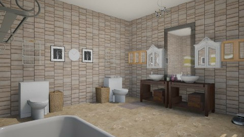 Retro bathroom(beta - Retro - Bathroom - by Jordan Tez