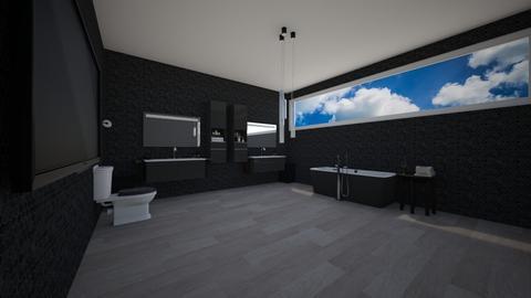 Dark Bathroom - Bathroom - by Brooklyn_Baddie