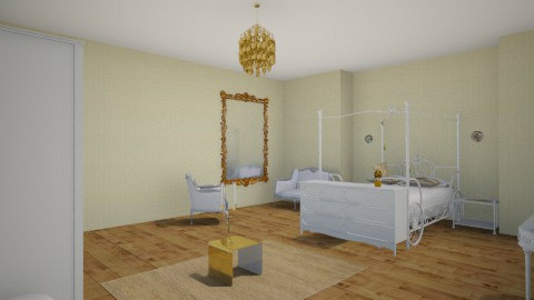 posh spare room with gold - Glamour - Bedroom - by Interior enthusiast