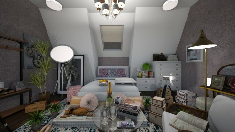 student room - Feminine - Bedroom - by patriicia popa