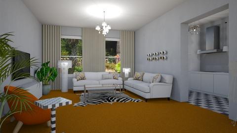 Orange Carpet Daisy - Modern - Living room - by Daisy de Arias