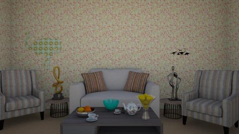 Mostly Beige - Living room - by strongsteadfast