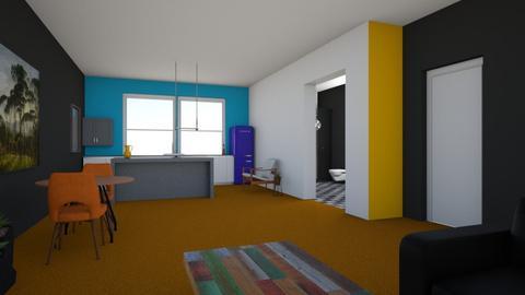 Orange Carpet - Kitchen - by Matia1