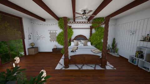 Bohemian bedroom 2 - Bedroom - by yaizalloriginal