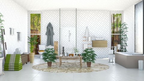 Bamboo Bathroom - Modern - Bathroom - by InteriorDesigner111