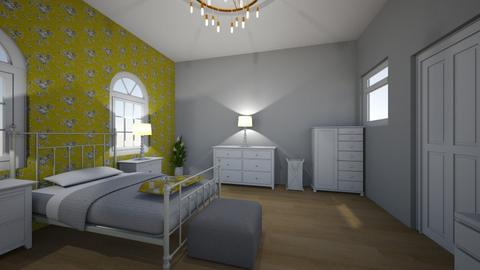 flower bedroom - Bedroom - by bluebunny13