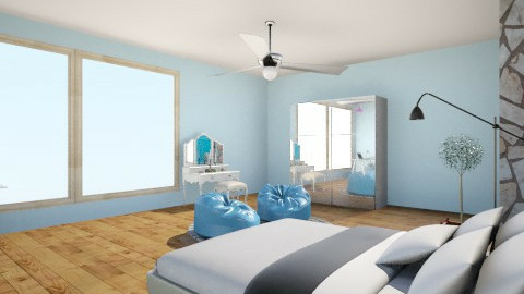 blue  - Bedroom - by nidhithebest