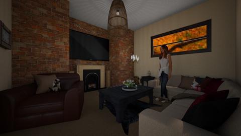 brick on brick - Rustic - Living room - by tieganclayton