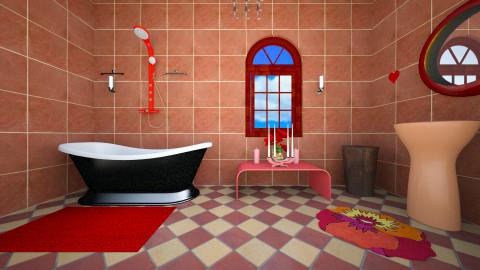 bathroom - Retro - Bathroom - by Alixandria Wolff