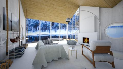 swedish lakehouse - Modern - Living room - by kitty