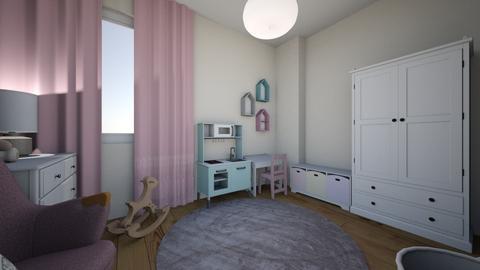 Pokoj Milenki projekt 1 - Minimal - Kids room - by Marta Orzechowska