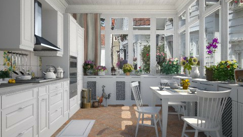 Veranda Kitchen - Kitchen - by Violetta V