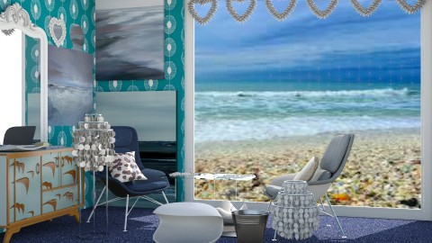 Seashell by the Seashore - Classic - Living room - by InteriorDesigner111