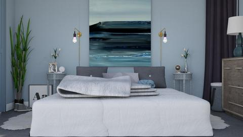 Icy Blue Bedroom - Modern - Bedroom - by HenkRetro1960