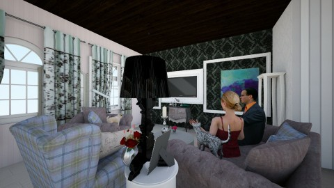 lIVING rOOM d - Glamour - Living room - by fruzelina