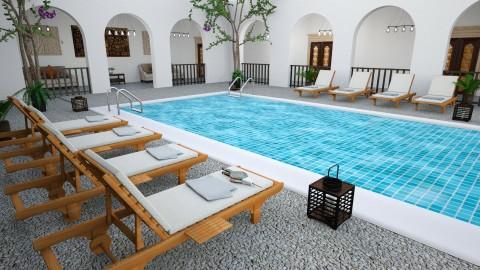 Riad Villa - Garden - by Faye Dela Cruz