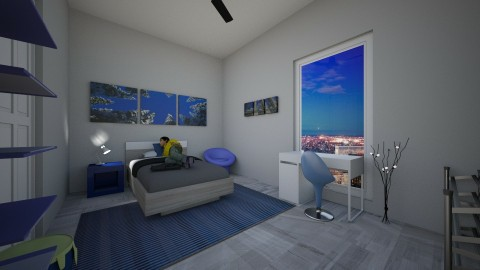 Large Home Kids Bedroom 9 - by Courtneyaziz