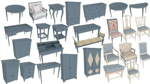 Blue Furniture  - by Kelly Carter