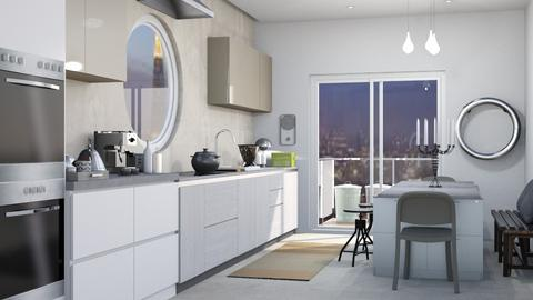 Hard surfaces  - Modern - Kitchen - by augustmoon
