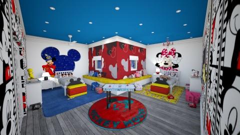 MICKEY MOUSE - Retro - Bedroom - by Kathran