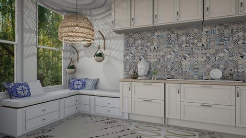 Blue Boho - Eclectic - Kitchen - by Yate
