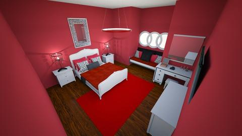 red and white bed room - Classic - Bedroom - by Braalexdun13