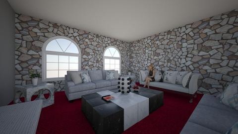 living white - Living room - by iqraEmine