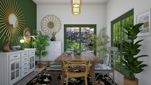 green dining - Dining room - by Soleys