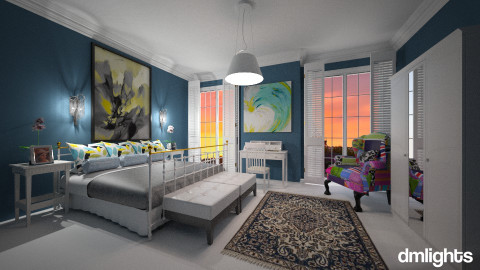 Por do sol em Paris - Bedroom - by Roberta Bela