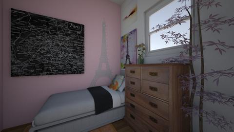 girly paris room - Feminine - Bedroom - by bethnay A