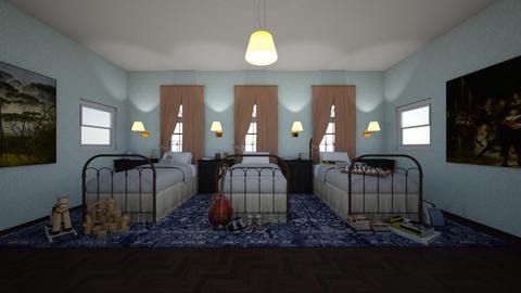 The Academy_Boys Dorm - Bedroom - by Jojo Bear