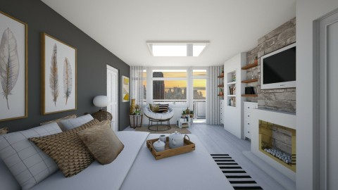 Bedroom redesign 2 - Modern - Bedroom - by GoliaNova