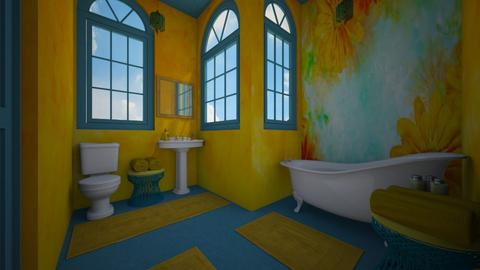 yellow - Bathroom - by daydreamer84
