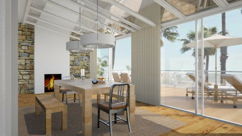 Simplicité  - Living room - by amandine evieux