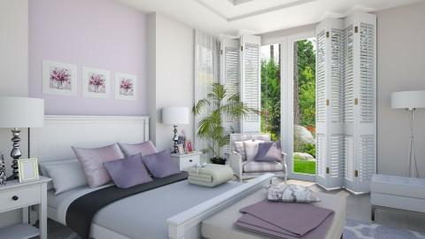 White Lilac 2 - Minimal - Bedroom - by Ejad Shukri