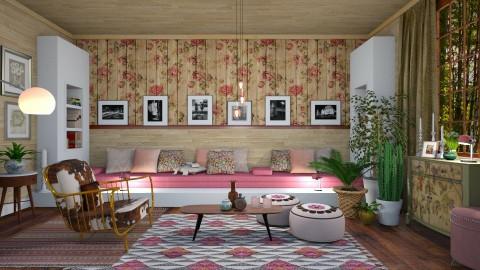Pink Vintage Seat  - by janip