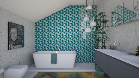 Attic bath - by Saharasaraharas
