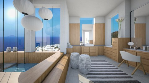 Santorini - Bathroom - by Baustin